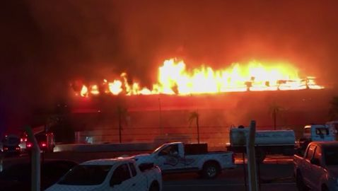 Огромен пожар изпепели пистата за MotoGP в Аржентина