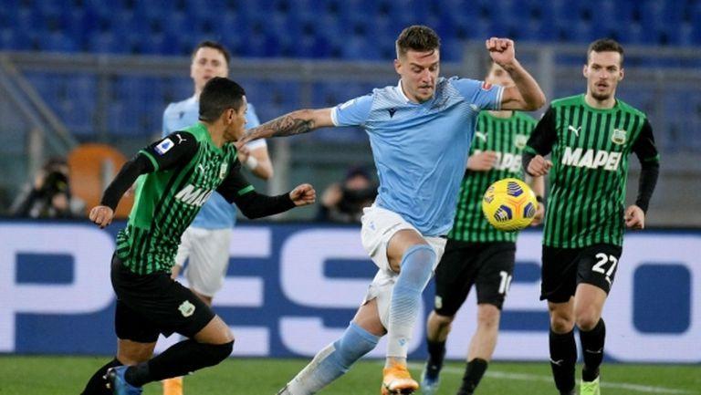Лацио трябваше да прави обрат срещу Сасуоло за четвъртата си поредна победа в първенството