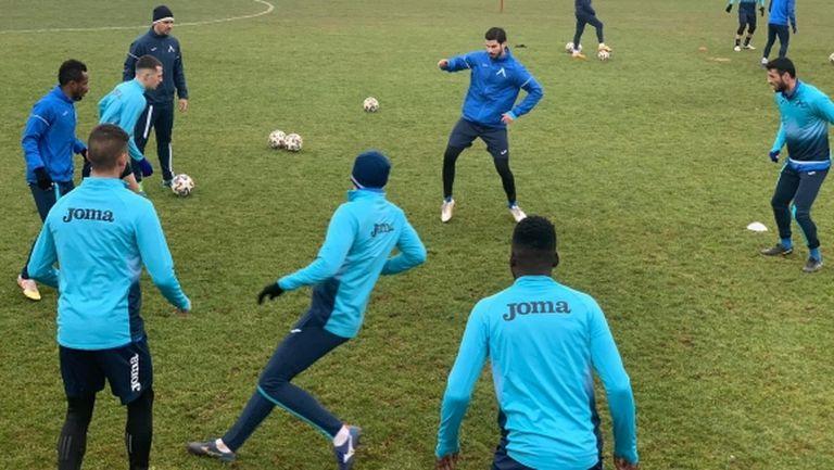 Начо Монсалве направи първа тренировка с Левски
