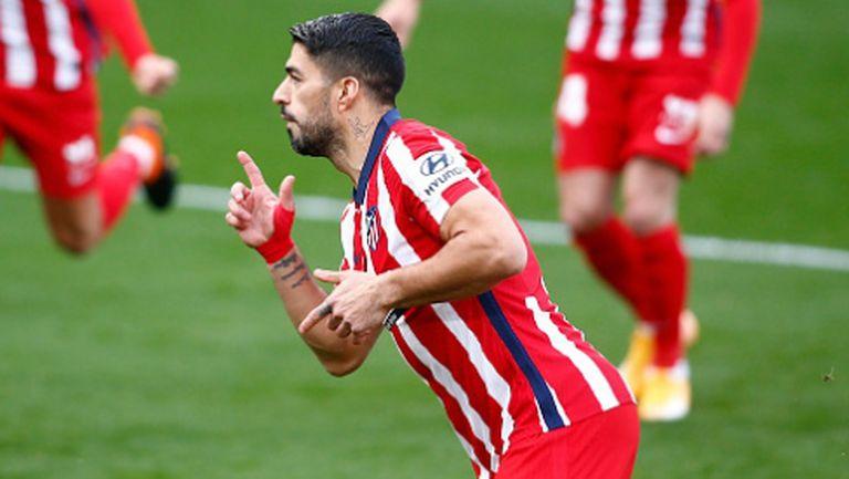 Суарес доближи Атлетико Мадрид до мечтаната титла след голов трилър в Кадис (видео)