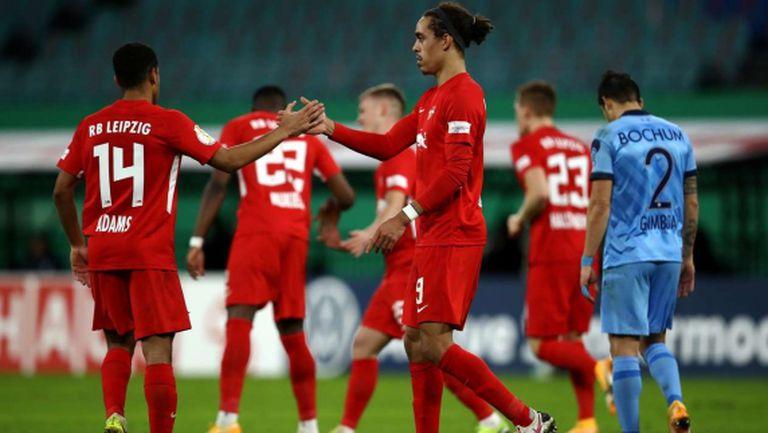РБ Лайпциг върви убедително напред, Волфсбург елиминира Шалке 04 за Купата на Германия (видео)