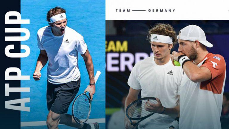 Германия детронира Сърбия на ATP Cup, Испания също е на полуфинал