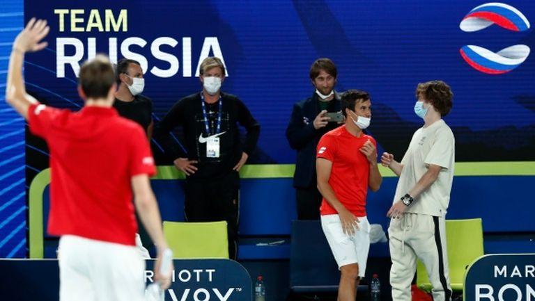 Русия и Италия ще играят на финала на ATP Cup