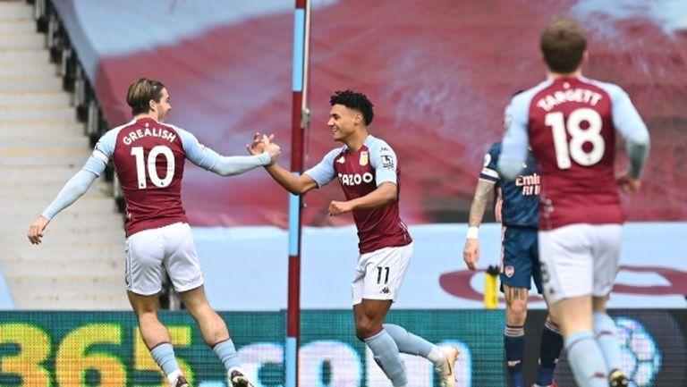 Арсенал отново забуксува, Астън Вила им нанесе втора поредна загуба