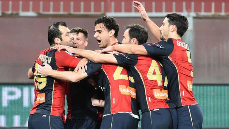 Горан Пандев вдъхнови Дженоа за първа победа над Наполи от 2012 година (видео)
