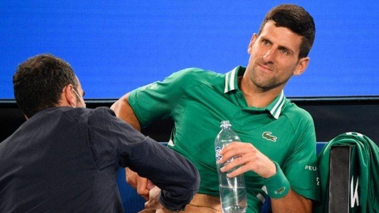 Джокович пропуска тренировка, под въпрос е за следващия си мач