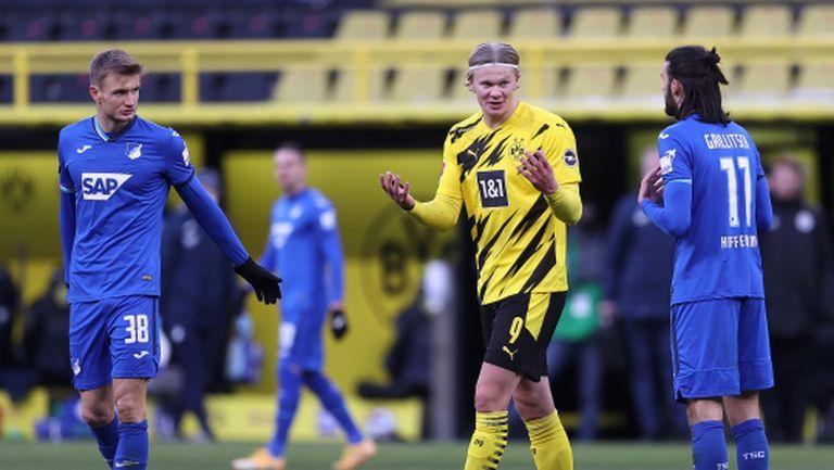 Холанд не спира да вкарва, но Дортмунд си остава в нокдаун (видео)
