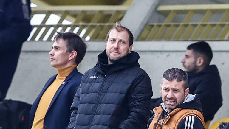 Антон Зингаревич, Видолов и Ясен Петров са на трибуните в Коматево за Ботев (Пд) - Славия