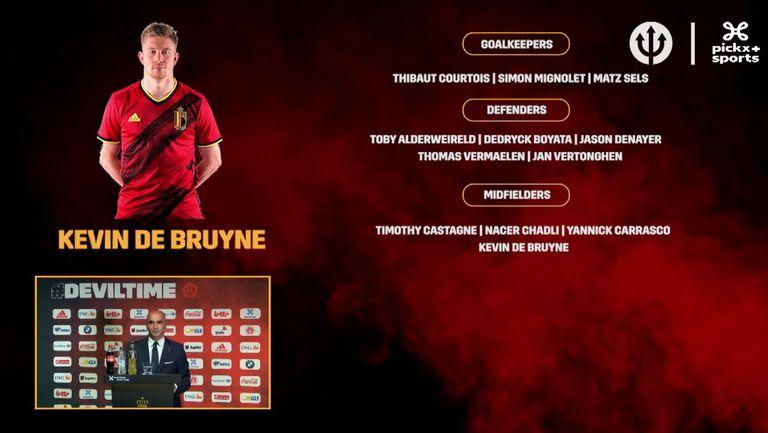 Белгия обяви звезден състав за Евро 2020