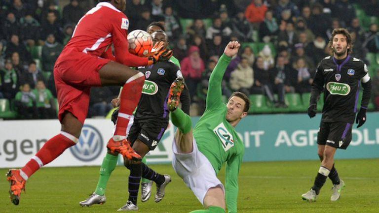 120-ата минута се оказа щастлива за Сент Етиен