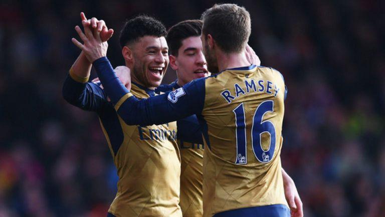 Арсенал отказа Борнемут за 88 секунди и се върна към победите (видео)