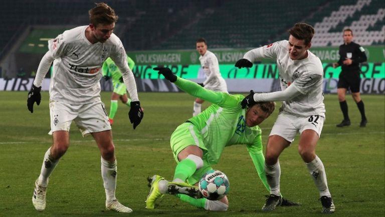 Волфсбург не успя да победи Борусия М и остави третото място на Айнтрахт