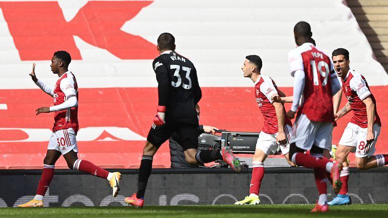 Арсенал показа, че не се вълнува от първенството, но въпреки това попари надеждите на Фулъм в 97-ата минута (видео)