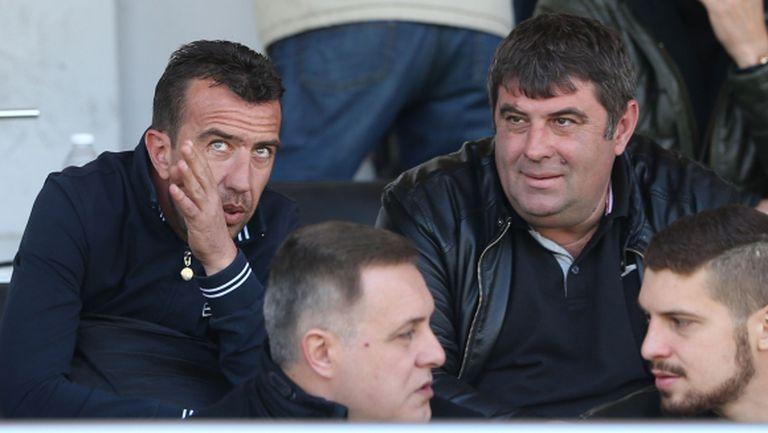 Петев и Георги Петков гледат сблъсъка между Локомотив (Пловдив) и Левски