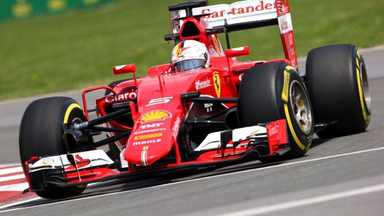 Фетел се надява на победа с новия двигател на Ферари