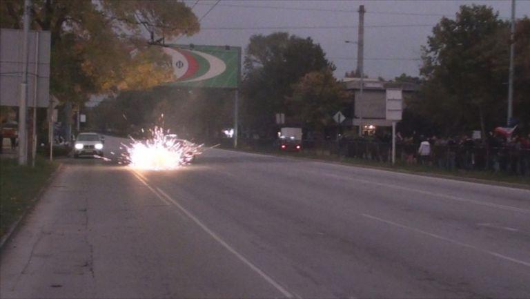 Бомба гръмна до полицейска патрулка преди Локо (Пд) - Ботев (Пд)
