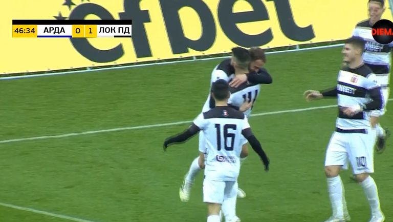 Локомотив (Пд) поведе на Арда след прекрасен гол на Кристиан Илич