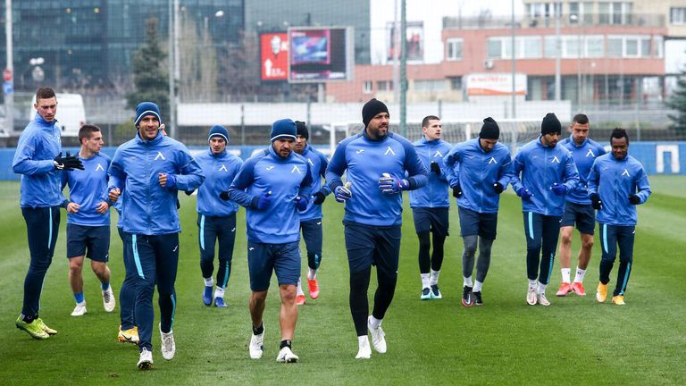 Левски направи последна тренировка преди мача в Пловдив