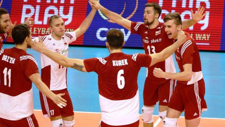Полша напред на Европейското след трудно 3:1 над Словения (СНИМКИ)