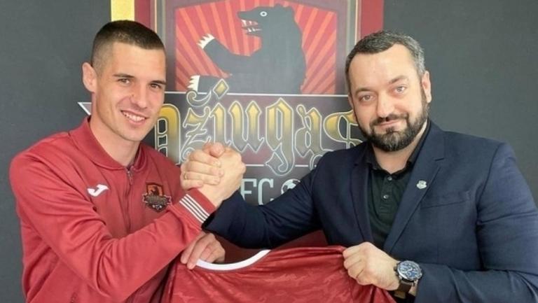 Наско Милев с първи гол в Литва