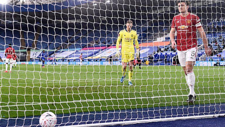 Лестър шокира Манчестър Юнайтед и е на полуфинал за FA Cup