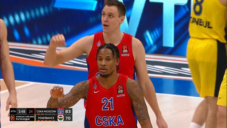 ЦСКА Москва победи Фенербахче с 92:76 и поведе в серията