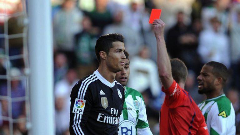 Слаб Реал Мадрид се измъкна с късна дузпа след червен картон на Кристиано (видео+галерия)