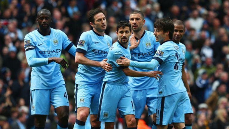 Манчестър Сити се върна към победите и се доближи на точка зад Юнайтед (видео)