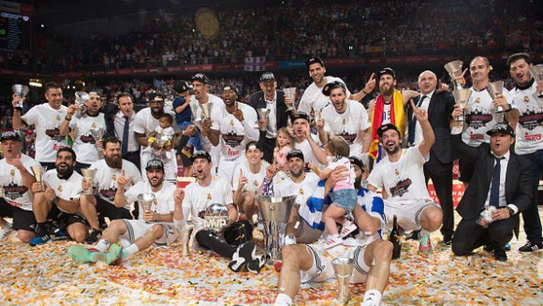 20 години по-късно Реал (Мадрид) триумфира в Евролигата (видео)