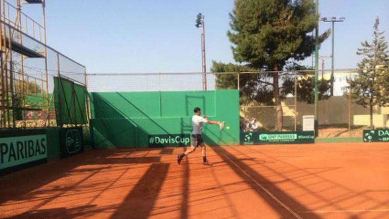 Първа тренировка за Григор Димитров в Гърция