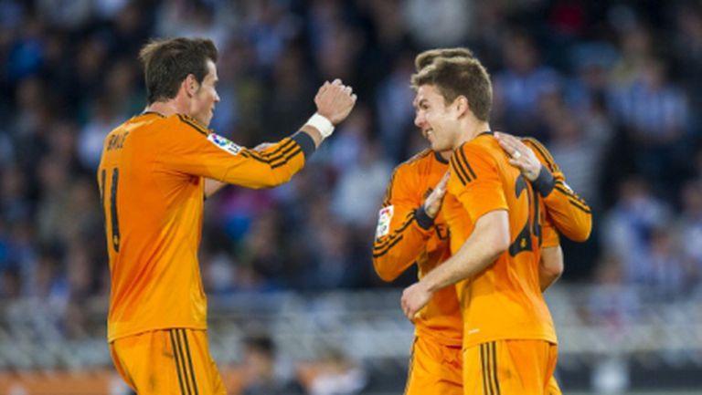 Реал Мадрид бележи гол след гол без Кристиано и взе най-тежкия си мач (видео+галерия)