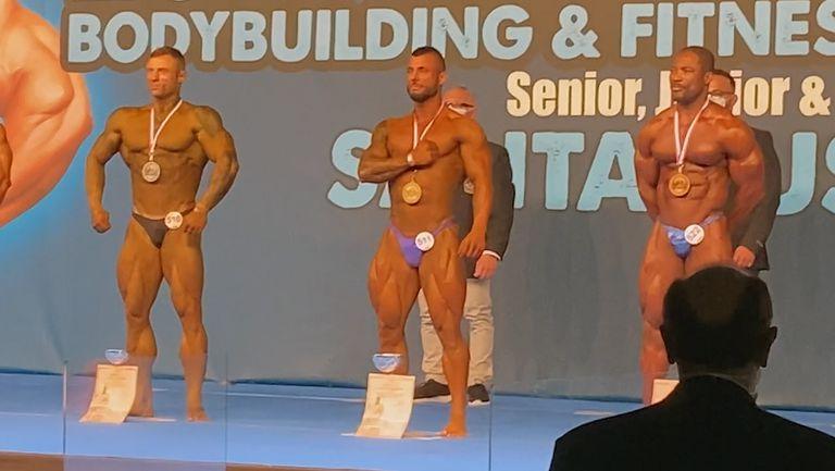 Димитър Леков е европейски шампион по културизъм в категория до 80 кг
