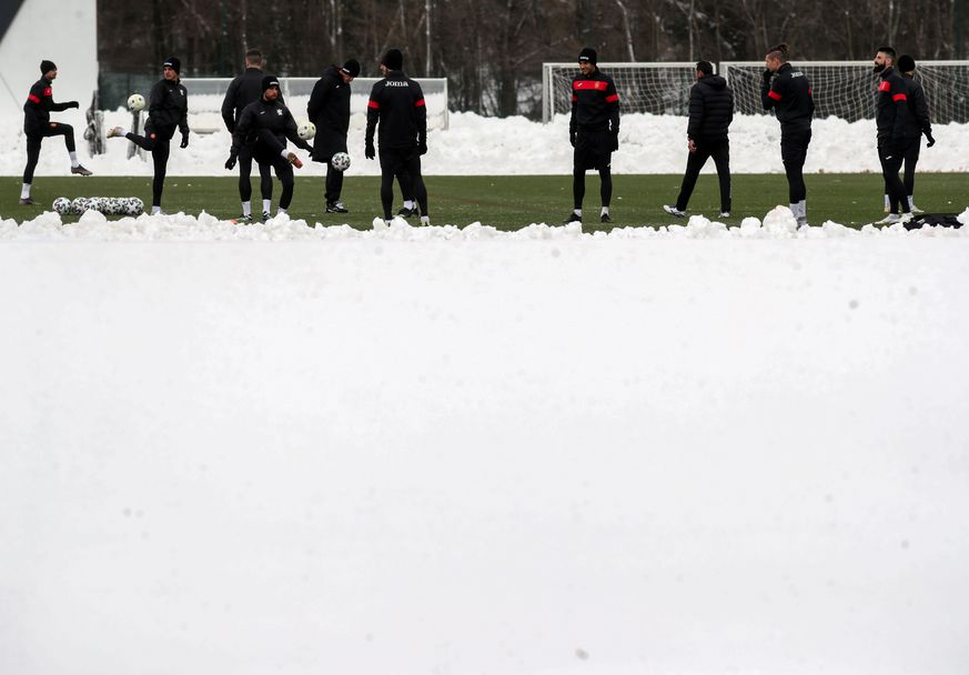 Тренировка на националния отбор на България преди квалификацията България-Швейцария