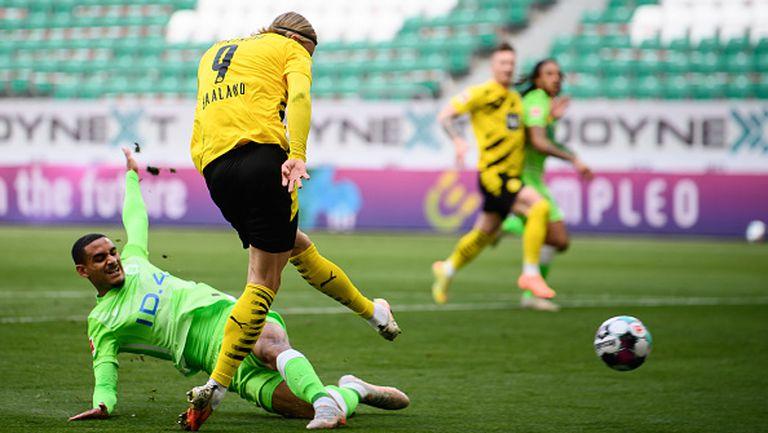 Волфсбург - Борусия Дортмунд 0:2, два гола на Холанд
