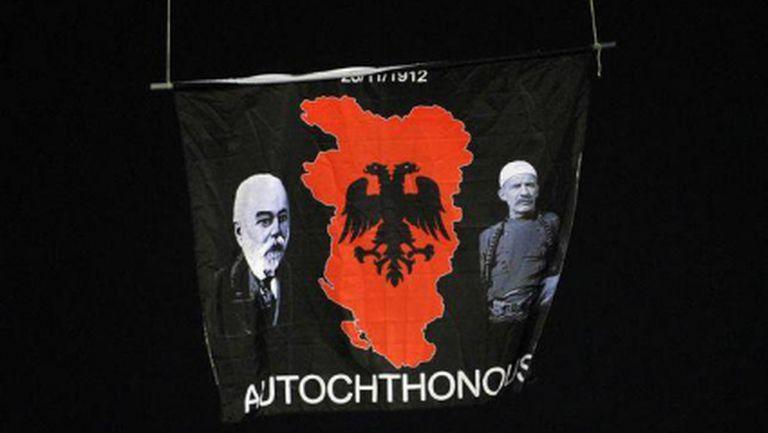 Какво точно е изобразено на скандалния флаг, прекратил Сърбия - Албания