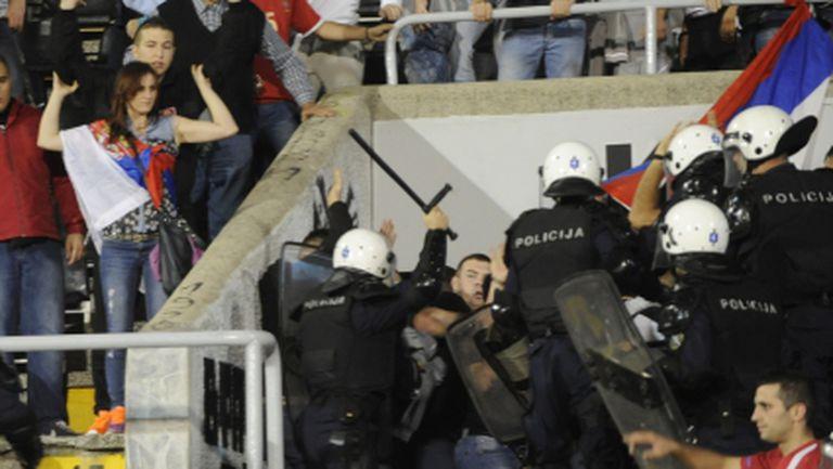 Селекционерът на Албания: Имаше много малко полицаи за такъв мач