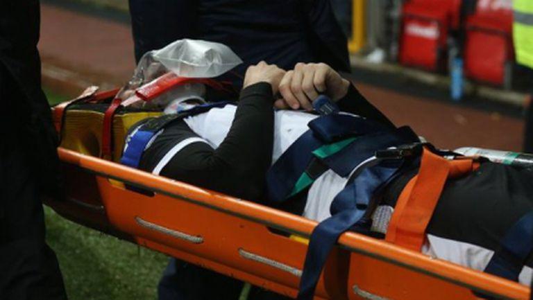 """Снодграс се възстанови след тежкия сблъсък на """"Олд Трафорд"""""""