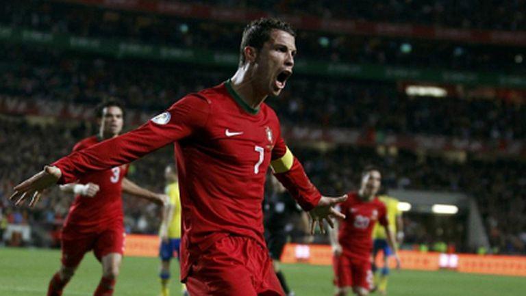 Кристиано приближава рекорди и с Португалия