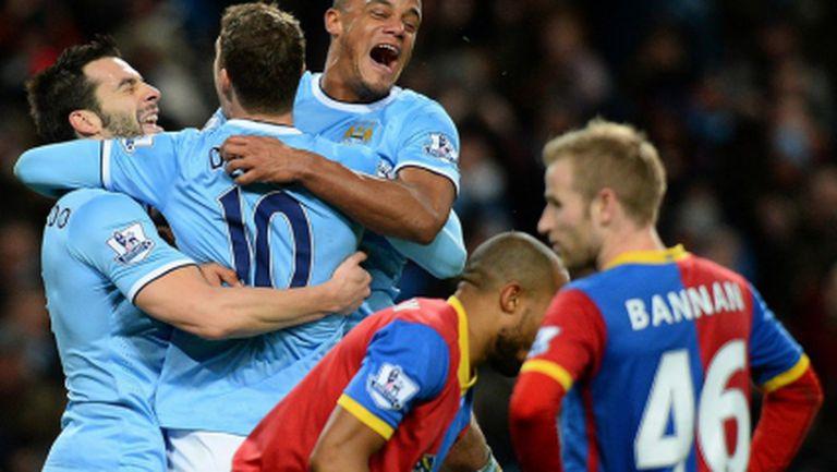 Манчестър Сити превзе първото място в Англия след трудна десета победа у дома (видео)