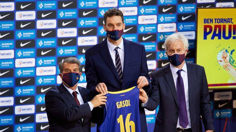 Барселона представи Пау Гасол, легендата си пожела титла от Евролигата
