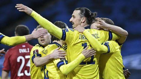 Ибра се завърна и помогна на Швеция срещу непримирим съперник (видео)