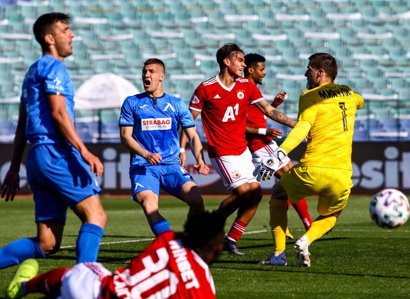 Левски - ЦСКА-София 0:2 (I част)