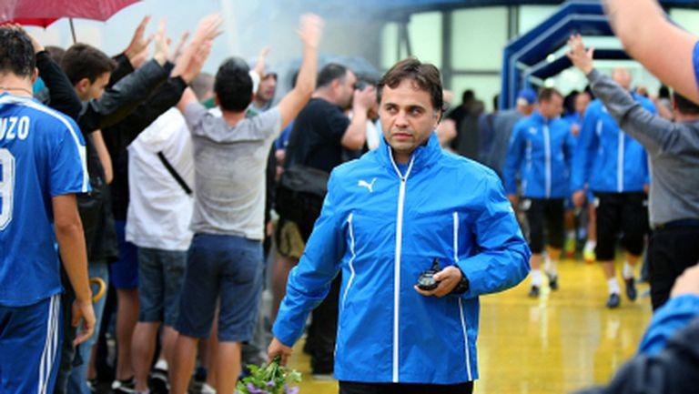 Митов изведе 23-ма за първа тренировка в Левски (видео)
