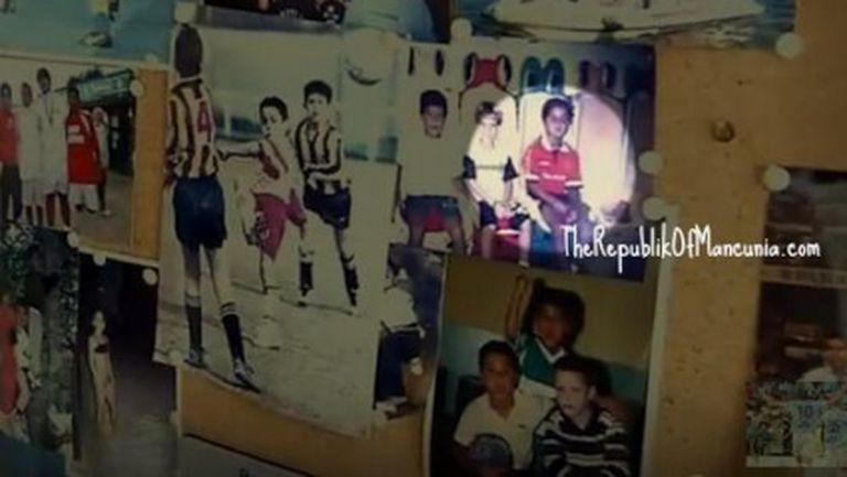 Малкият Тиаго с фланелка на Ман Юнайтед (снимка+видео)