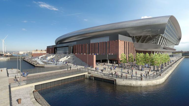Властите одобриха проекта на Евертън за нов стадион