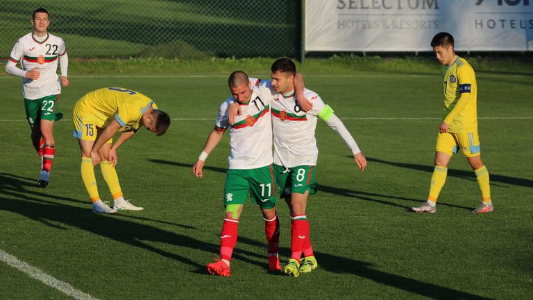 Младежите показаха как се прави и скриха топката на Казахстан с три гола за девет минути (видео)