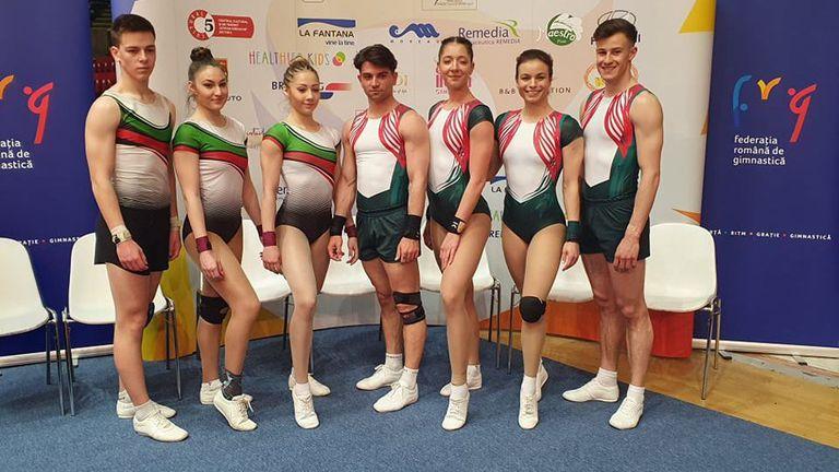 Осем медала за българските състезатели на международния турнир по спортна аеробика в Букурещ