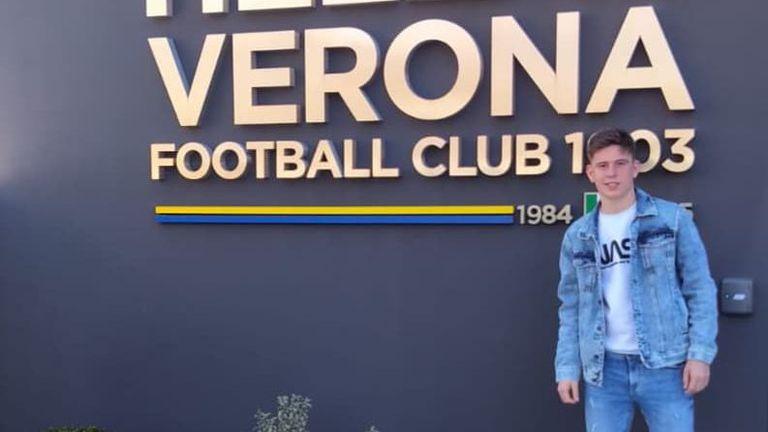 Български юношески национал се представи добре в първите си два мача за Верона