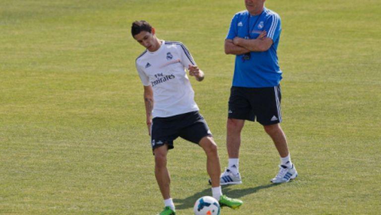 Анчелоти взе сина и сина на кондиционния си треньор в Мадрид