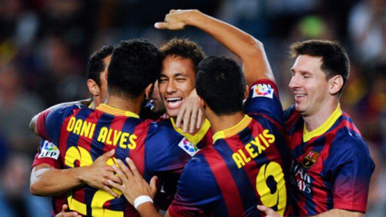 Барселона продължи победната си серия, Неймар се отпуши (видео)